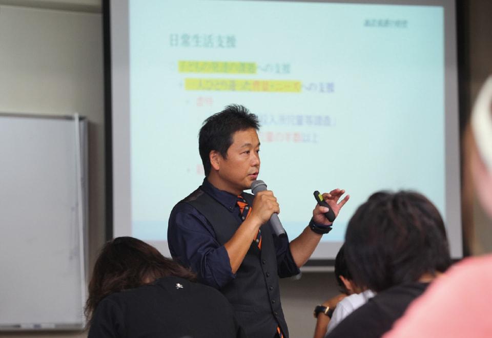 写真:社会的養護内容の授業の様子
