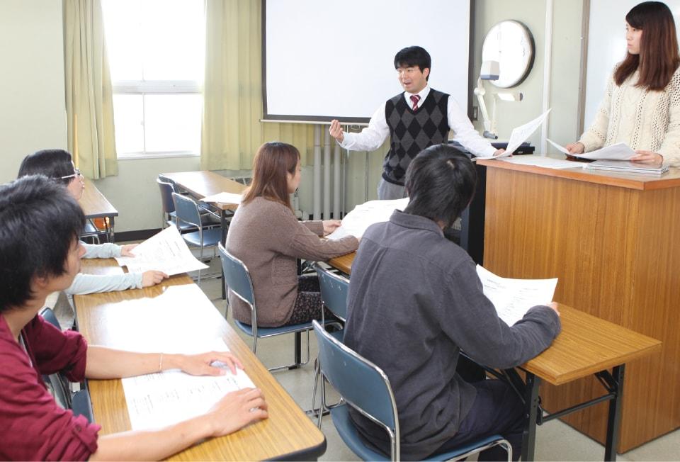 写真:現代社会と福祉Ⅰ・Ⅱの授業の様子