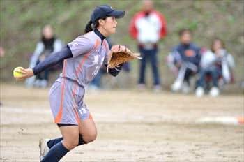 写真:ボールを投げようとするピッチャー