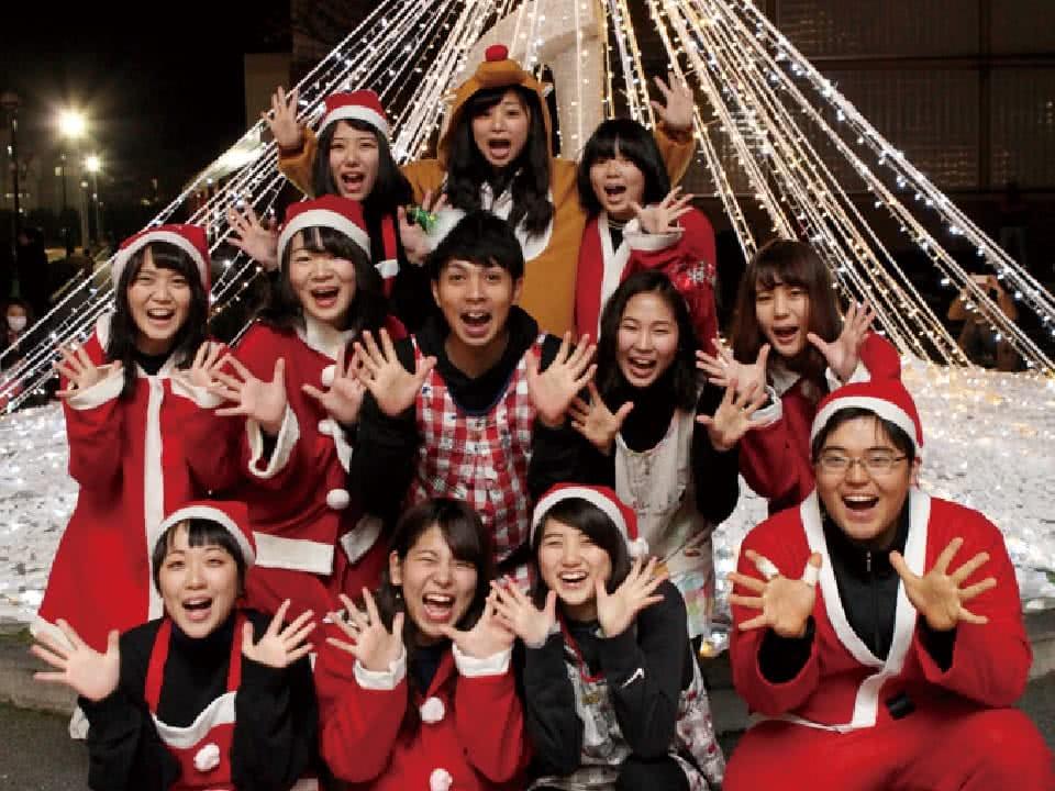写真:楽しいクリスマスの思い出集合写真
