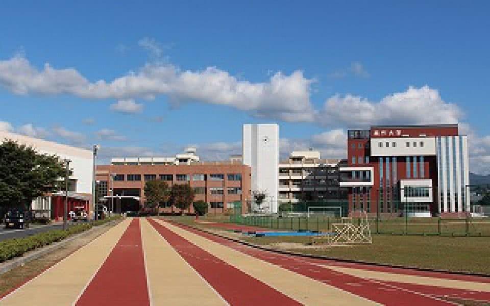 写真:美作大学の校舎の遠景