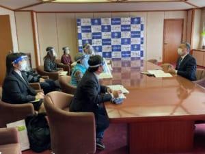 津山市長への提言書提出