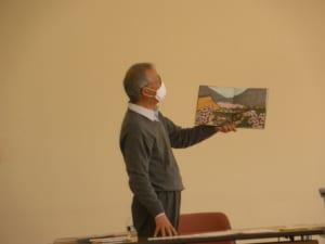 講義をする松岡先生の様子