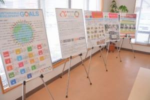 SDGsパネル展の様子